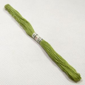 Cotton embroidery thread, Yellow green, 43m, (CDX074)